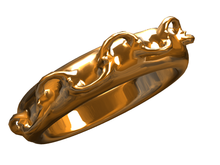 Link Ring - 3D design by Kiiz Zeeh on May 29, 2017