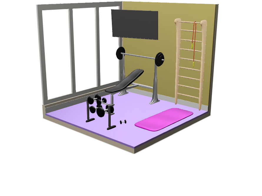 rbs workout room - 3D design by seeweros000 on May 3, 2018