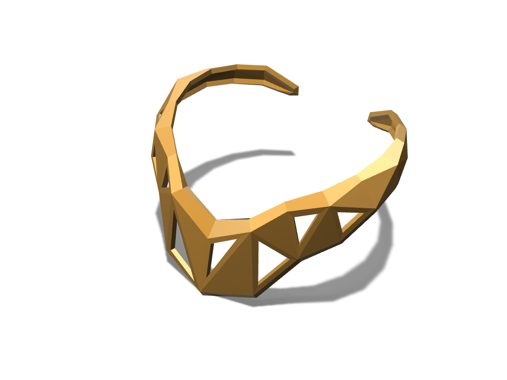 Obelisk Choker Necklace - 3D design by lewmanuel Sep 15, 2017