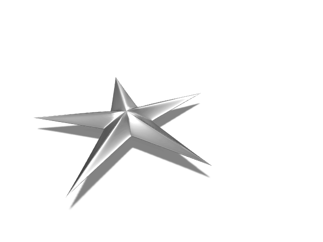 Tri Star - 3D design by Andy Klement Dec 24, 2016