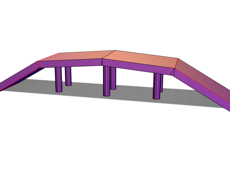 Simple Bridge - 3D design by 1072697 Apr 9, 2018