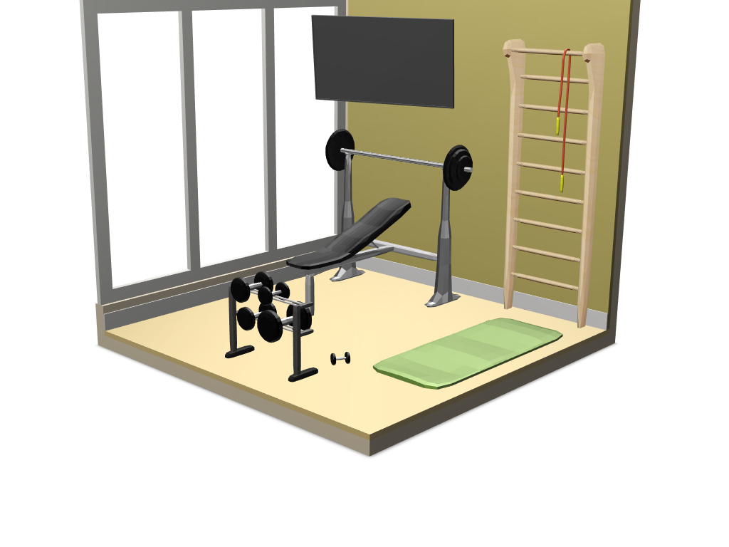 GYM - 3D design by diamond32 Feb 23, 2018