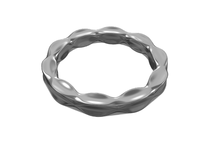 Flow bangle - 3D design by Genny Pierini on Sep 19, 2017