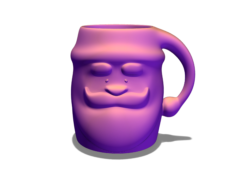 Santa mug - 3D design by VECTARY Dec 5, 2017