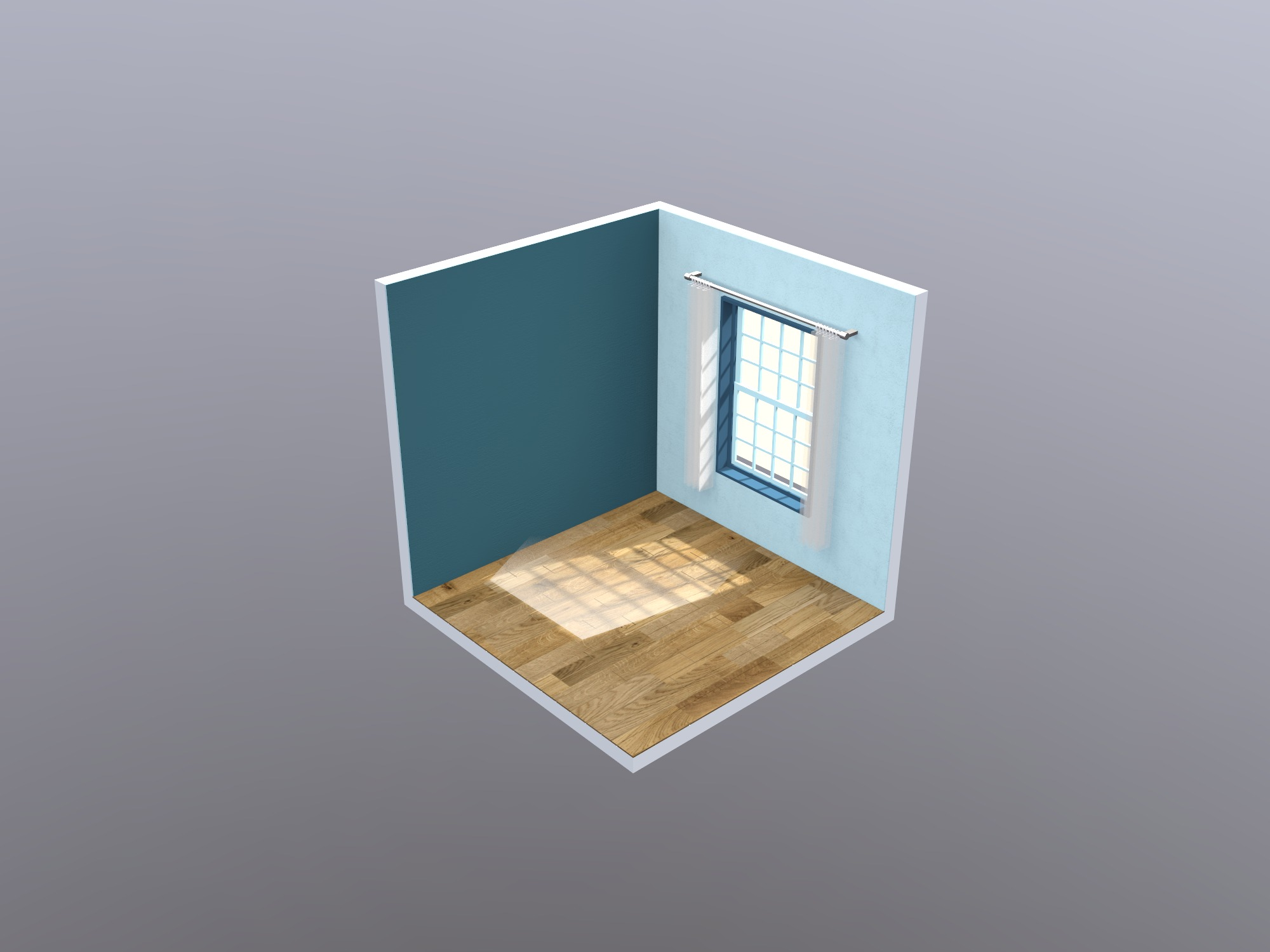 Empty isometric room - drag and drop furniture - 3D design by Vectary templates on Jun 4, 2018