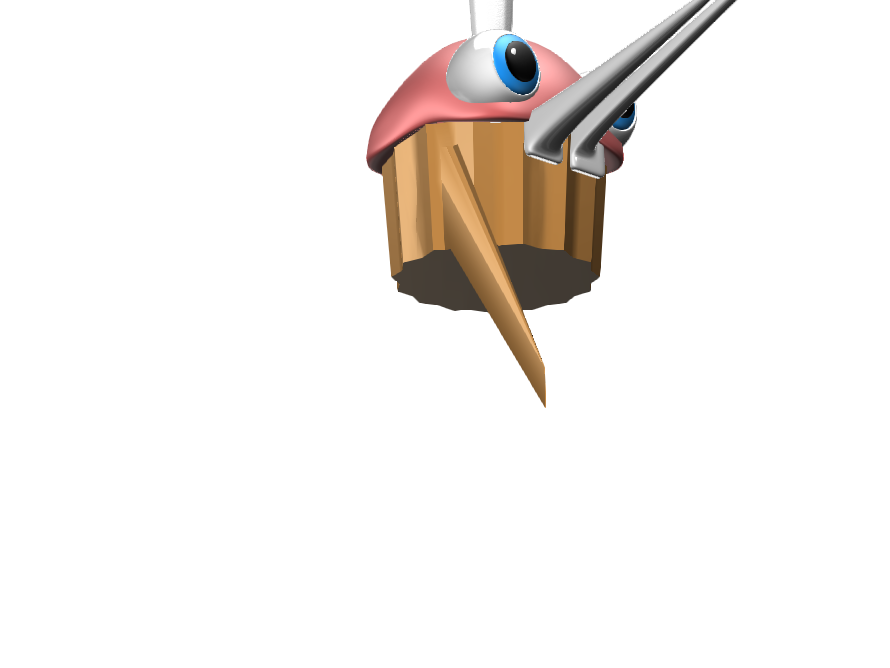 weird Fnaf cupcake - 3D design by wizkid57 May 18, 2018