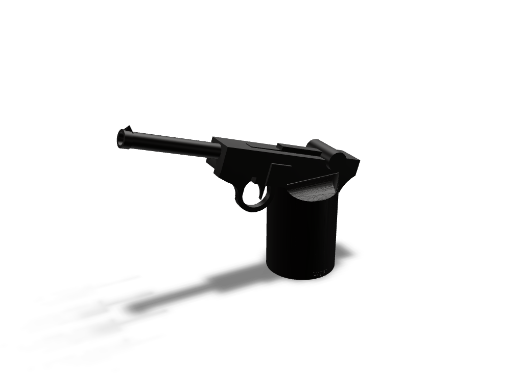 Luger Pistol - 3D design by Bill13 Sep 3, 2017