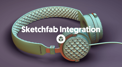 Use thousands of new 3D models thanks to our Sketchfab integration