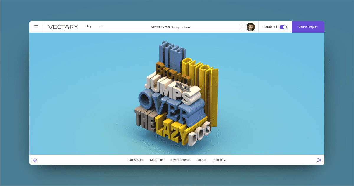 How to create 3D typography online with Vectary – Prototyping