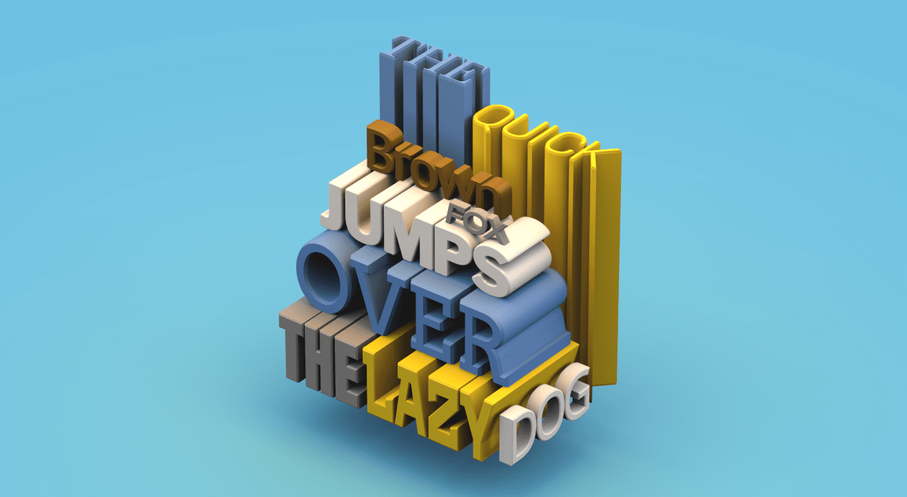 Create incredible 3D text online with VECTARY's free 3D tool