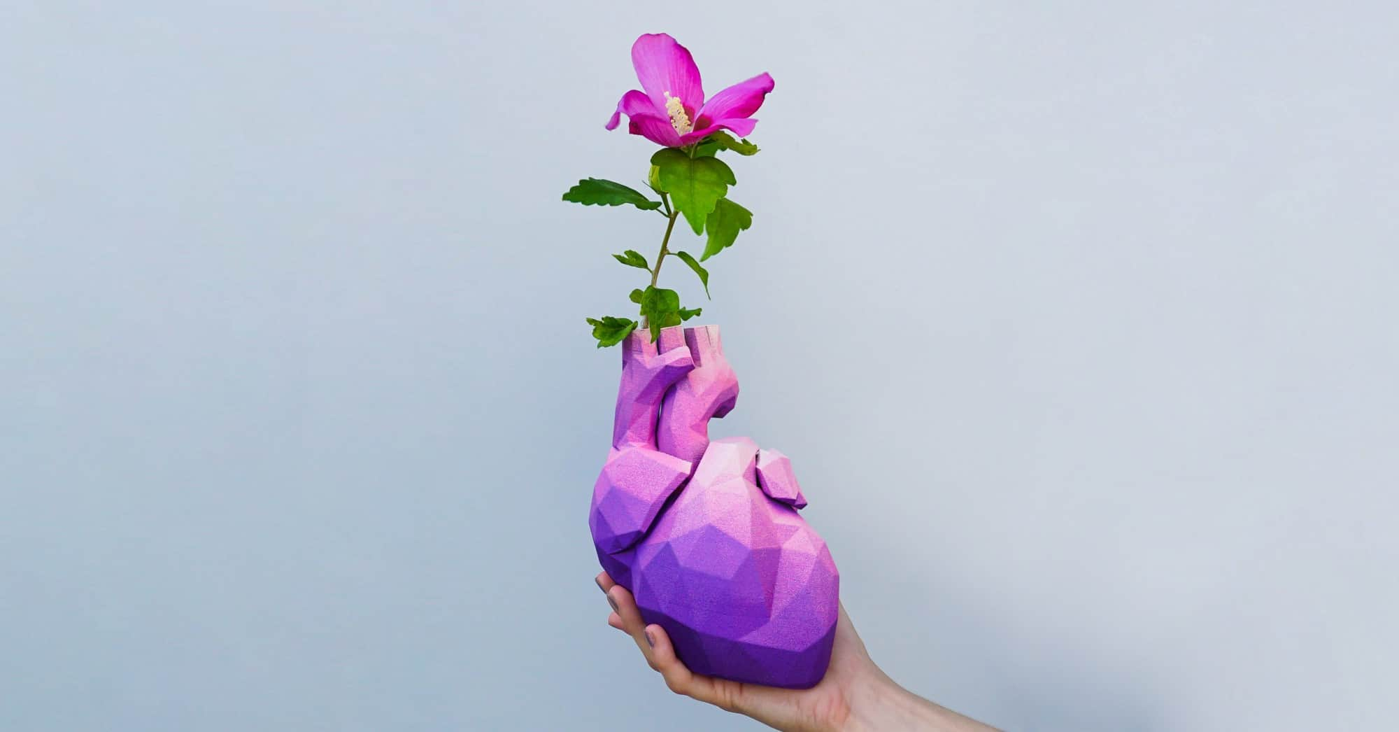 Give her your heart: The story behind our low poly heart vase model