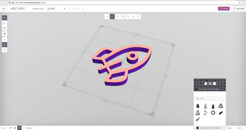 VECTARY integrates the Noun Project to provide 3D icons to every designer