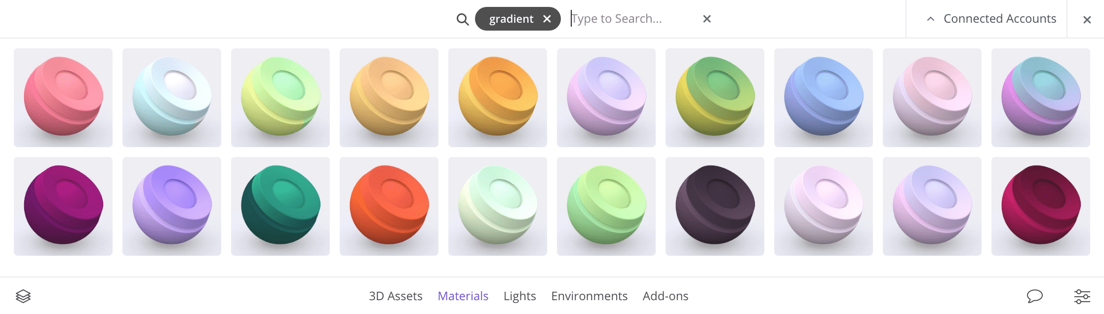 gradient-materials-vectary-3D-design