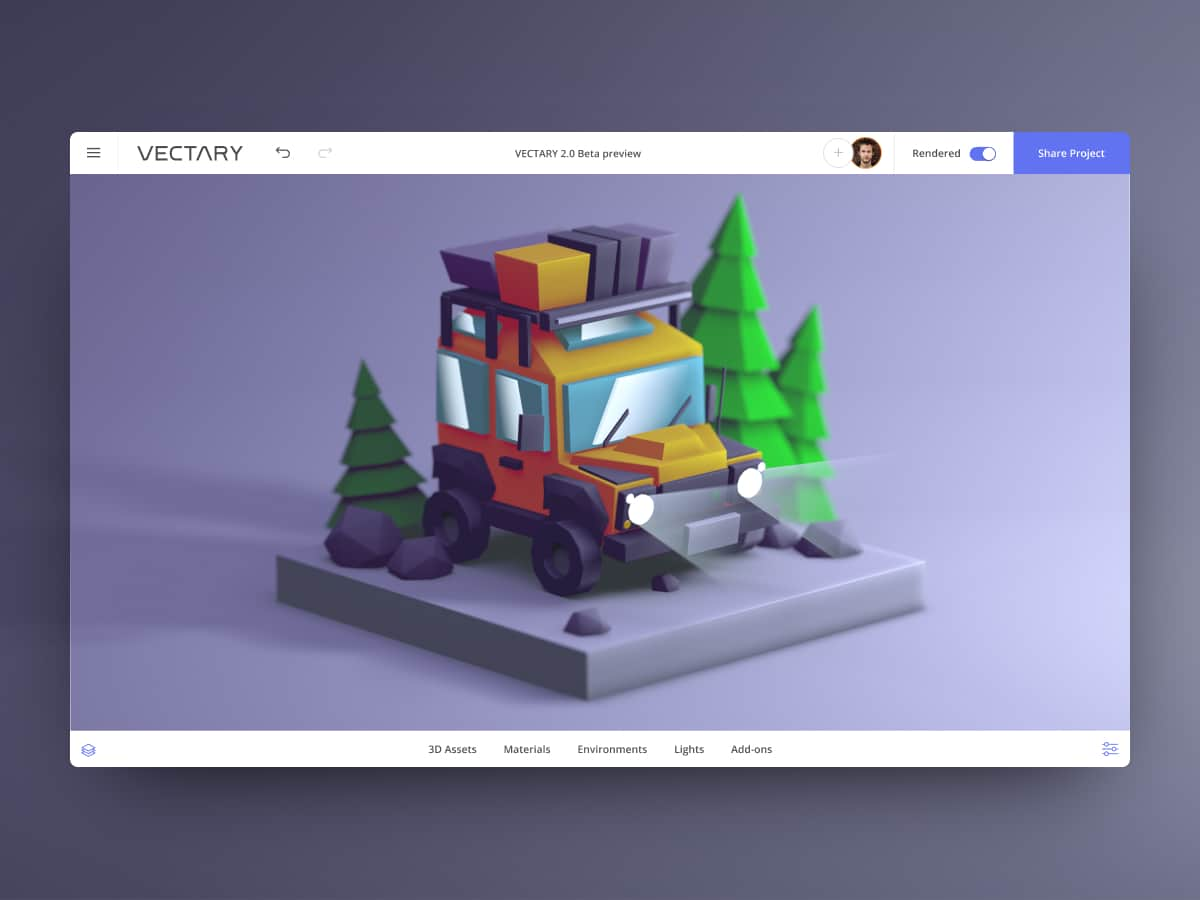 low-poly-defender-3D-drawing