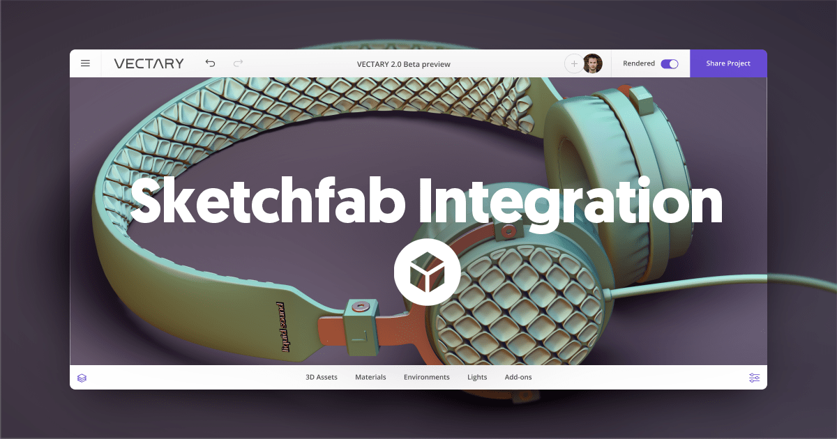 Use thousands of new 3D models thanks to our Sketchfab