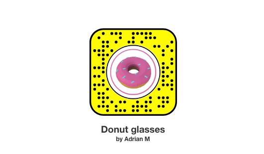 snapcode vectary donut glasses