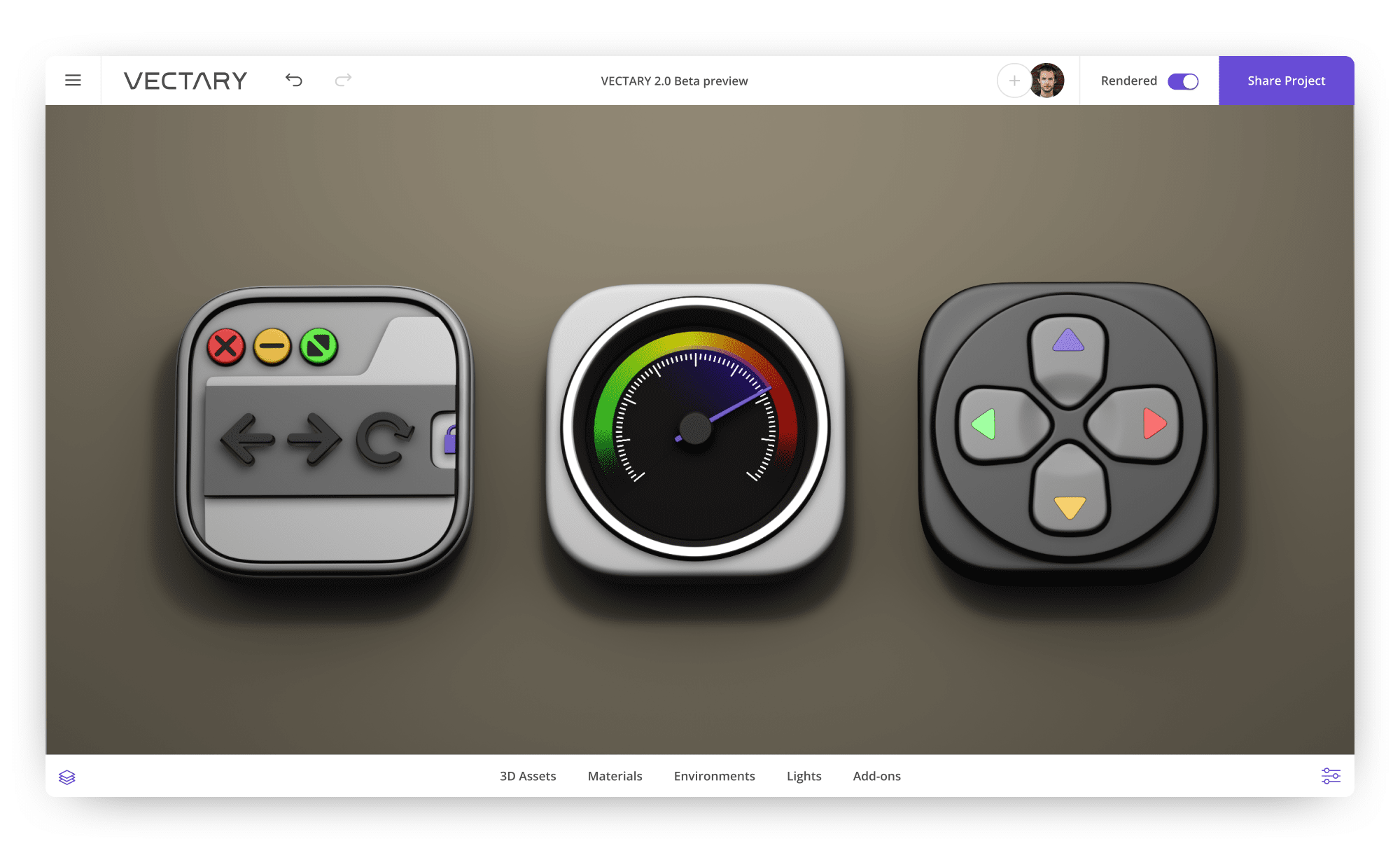vectary-3D-design-icons-speed-fast-browser-playful-joystick-icon-set