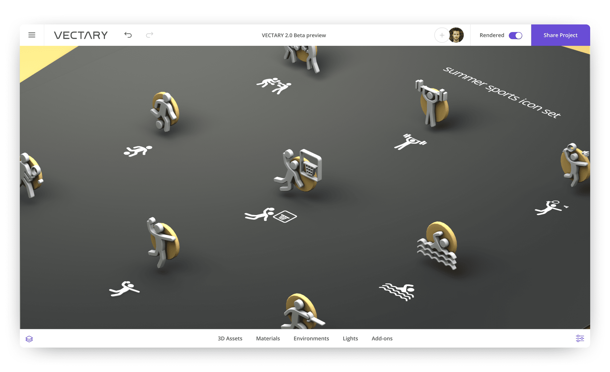 vectary-3D-design-icons-sports-summer-icon-set